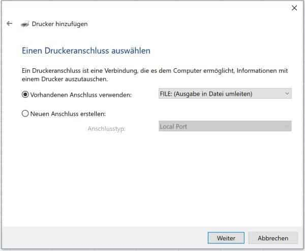 Excel Insights: Screenshot Druckerauswahl