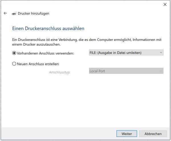 Excel Insights: Screenshot Druckerauswahl