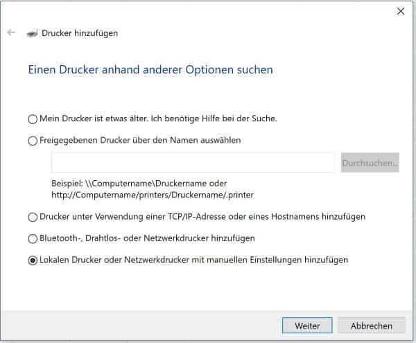 Excel Insights: Screenshot Dialog Drucker hinzufügen um den Microsoft Print To PDF Drucker hinzuzufügen