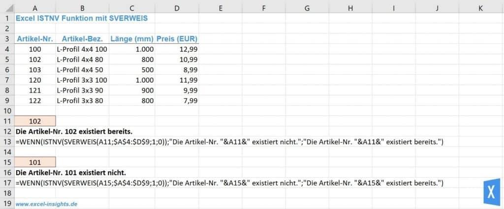Excel Istnv
