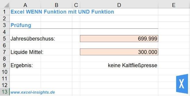 Excel Insights: WENN Funktion mit 2 Bedingungen und UND Funktion