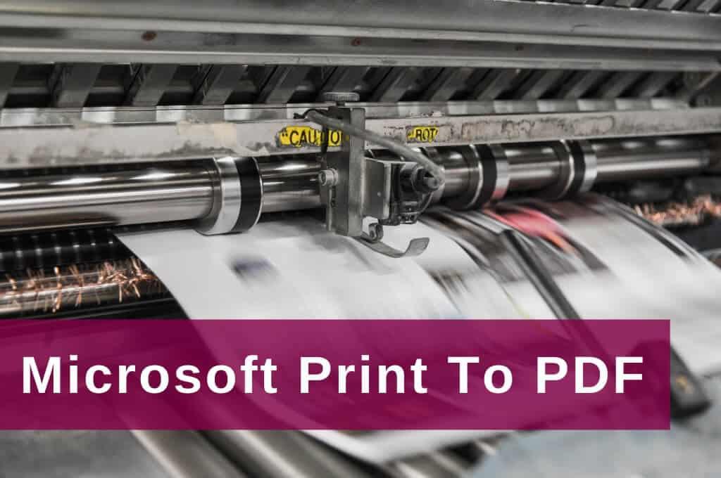 Excel Insights: Mit dem Druckertreiber Microsoft Print To PDF pdf-Dateien erzeugen
