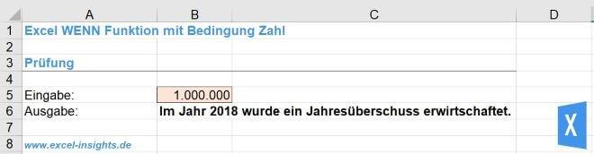 Excel Insights: WENN Funktion mit Zahl