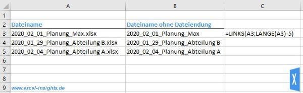Excel Insights: Die Excel LÄNGE Funktion kann in Kombination mit der Excel links Funktion dynamisch eingesetzt werden.